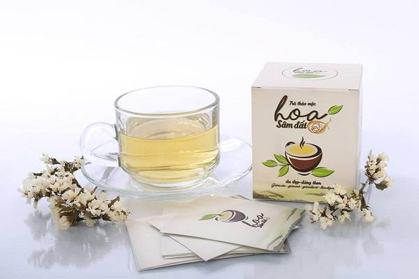 trà thảo mộc giảm cân hoa sâm đất